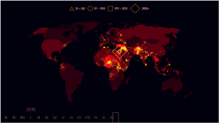 15 Years Of Terror Map Of Terrorist Incidents Since 2000