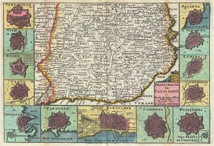 La Feuille Map of Catalonia