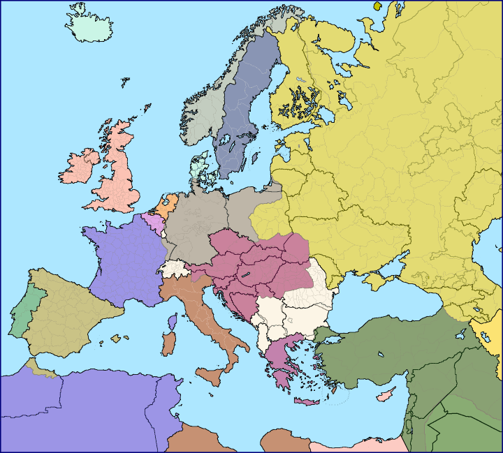 European Borders In 1914 vs European Borders Today