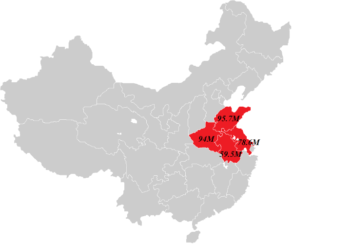 How The US Population Fits In Eastern China