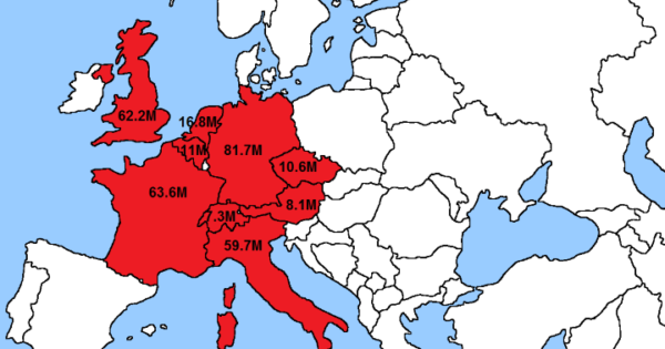 8 Maps Showing How The Us Fits Into The Rest Of The World - Map-of-europe-and-us