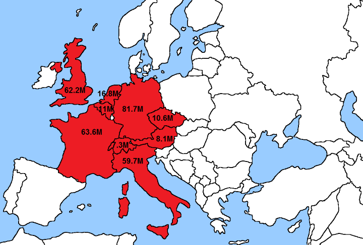 How The US Population Fits In Europe