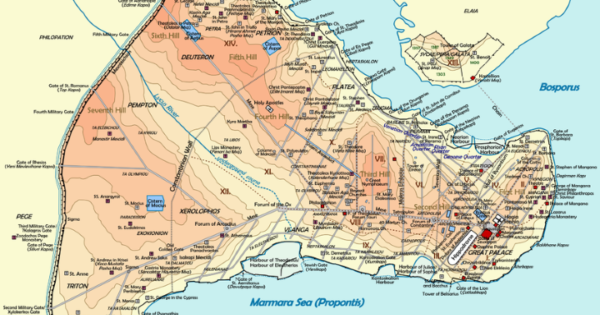 Map Of Constantinople Byzantine Constantinople Before It Was Istanbul – Brilliant Maps