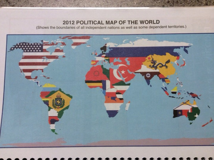 Worst world flag map ever