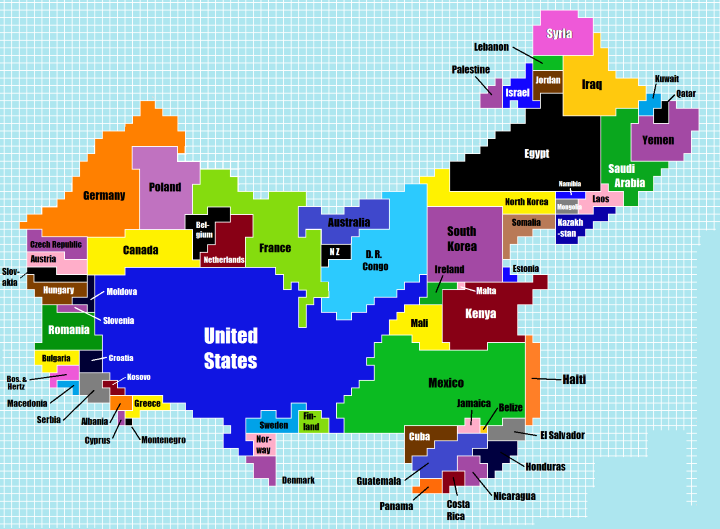 China's population compared