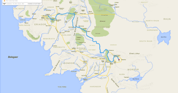 If Frodo & Sam Had Google Maps Of Middle Earth – Brilliant Maps