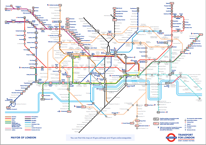 toilet london tube map