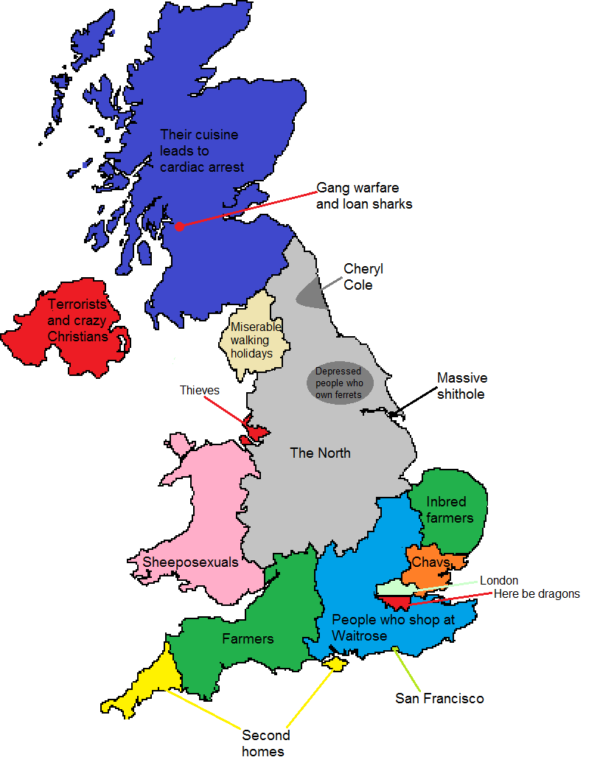 London North Map.How North Londoners View The Rest Of The Uk Or Why The Rest Of The