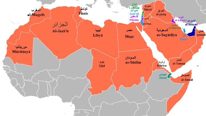 Names of Arabic Speaking Countries in Arabic