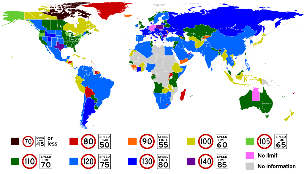 World Speed Limits