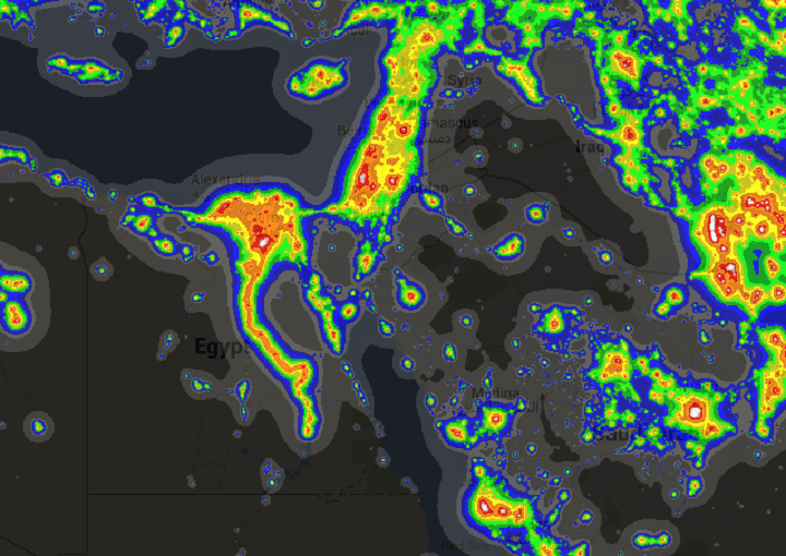 Light Pollution Around The World Brilliant Maps - Us light pollution map