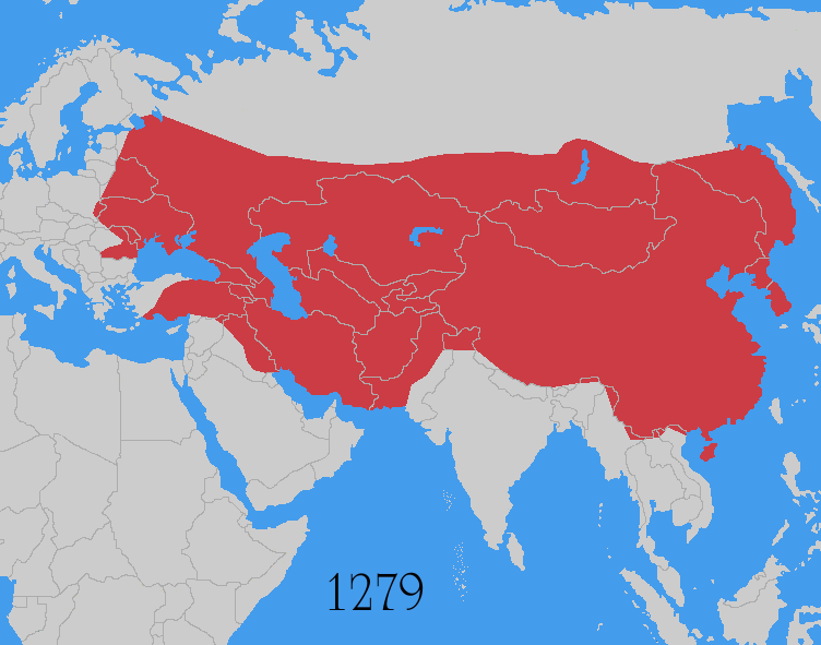 Mongolian Empire Map What If the Mongol Empire Reunited….? – Brilliant Maps