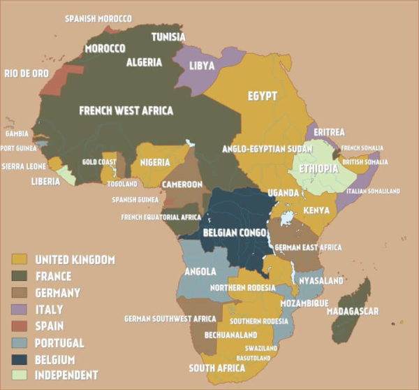 Colonial Africa On The Eve Of World War I Brilliant Maps