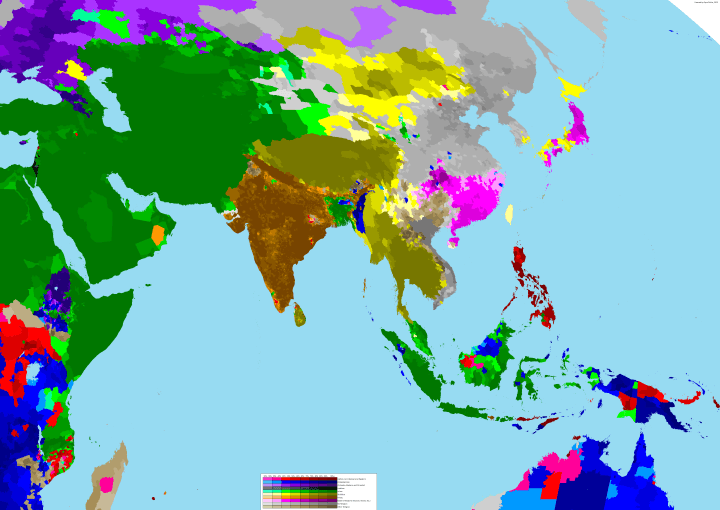 Asia religion map
