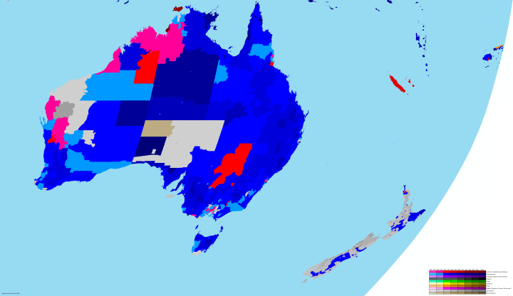 Australia Religion map