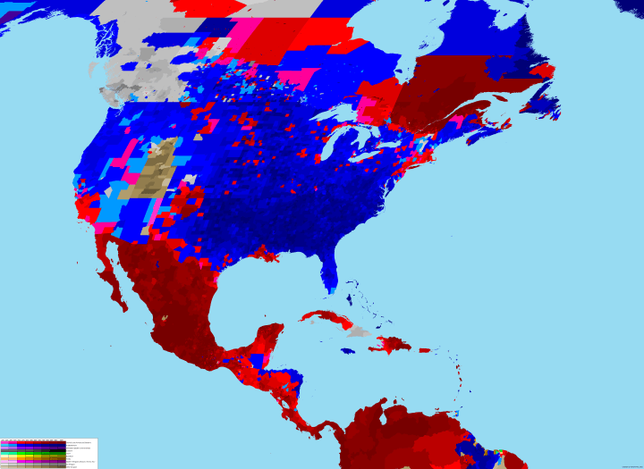 North America Relgion Map