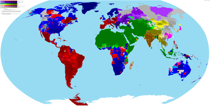 Incredibly Detailed Map Of The World's Religions