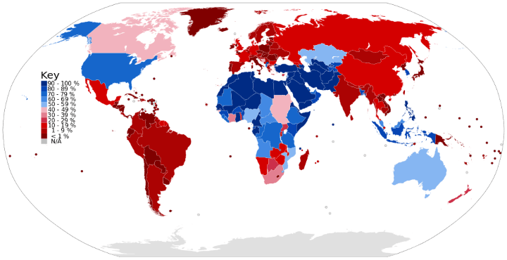 Male Circumcision Prevalence by Country