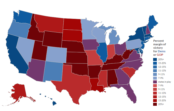 Electoral Map How Hispanic And Asian Voters Could Change The - Us electoral map prediction