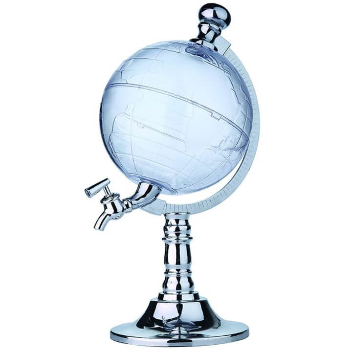 Angelwing Novelty Globe Shaped Liquor Dispenser