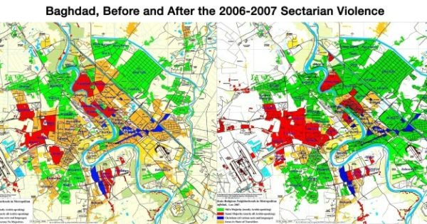 Baghdad Before & After 2006-2007 Sectarian Violence ...