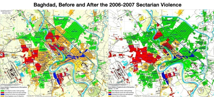 Baghdad Before & After 2006-2007 Sectarian Violence