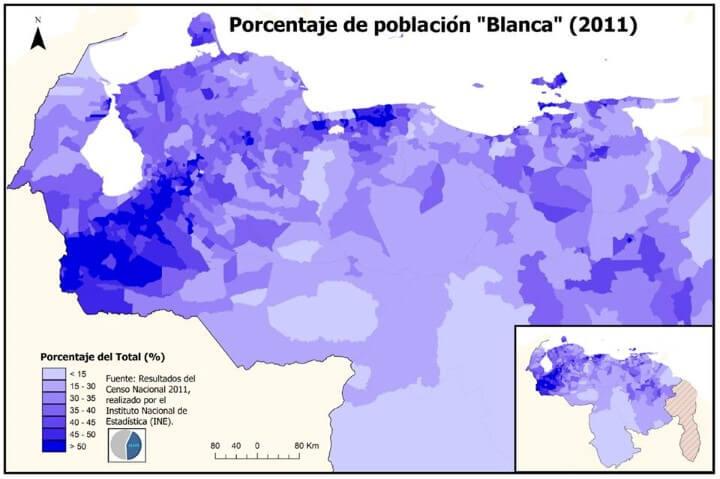 Blanca population of Venezuela