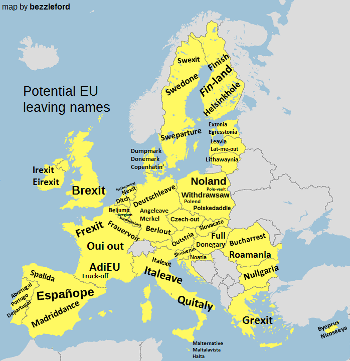 potential eu exit names for the 27 remaining member countries