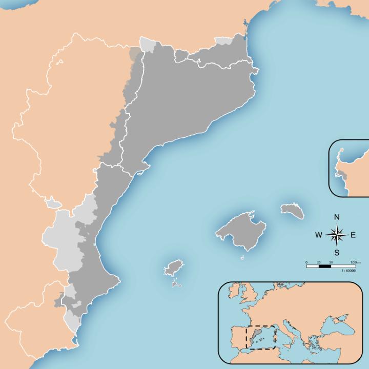 Catalunya Spain Map.Catalonia The Catalan Language 10 Facts Maps Brilliant Maps