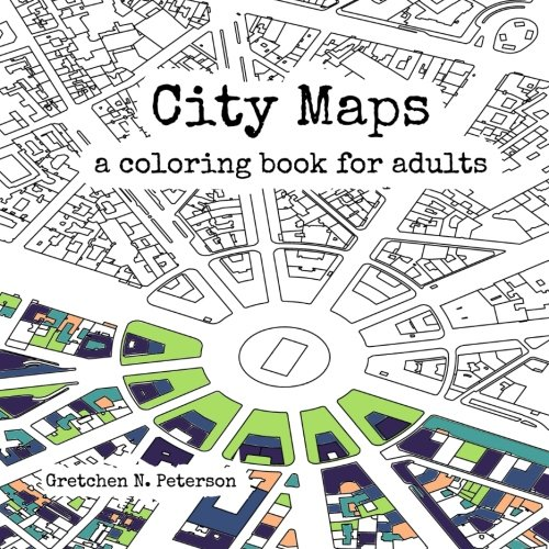 City Maps A Coloring Book For Adults