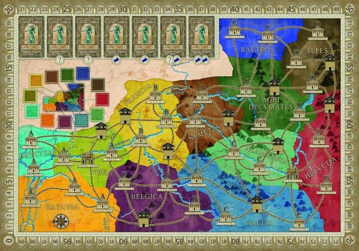 The 28 best map based strategy board games youve probably never concordia game map gumiabroncs Gallery