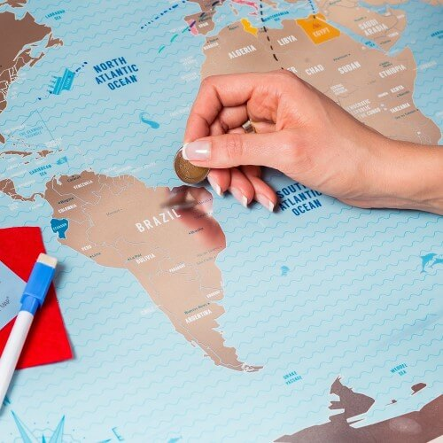 17 best scratch maps for your 2018 travel adventures brilliant maps deluxe scratch off world map large places ive been world travel map gumiabroncs Images