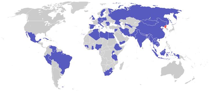 Where North Korea Has Embassies