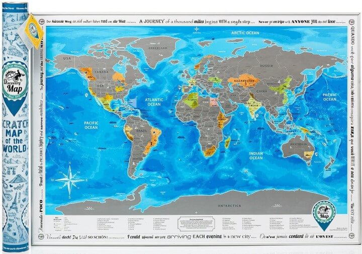 13 Best Scratch Maps For Your 2017 Travel Adventures Brilliant Maps – Travel Map Of The World