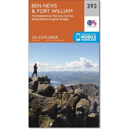 OS Explorer Map of Ben Nevis & Fort William