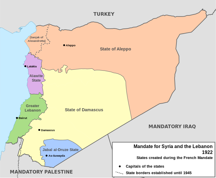 French mandate for syria and the lebanon in 1922 brilliant maps french mandate for syria and the lebanon 1922 gumiabroncs Image collections