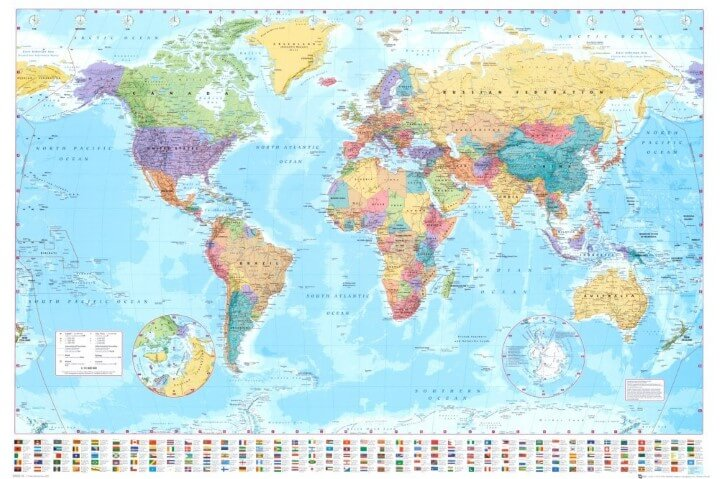 37 eye catching world map posters you should hang on your walls gb eye world map poster gumiabroncs Choice Image