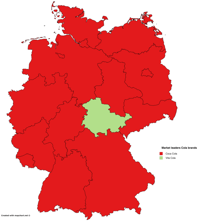 Most Popular Cola Brands in Germany – Brilliant Maps