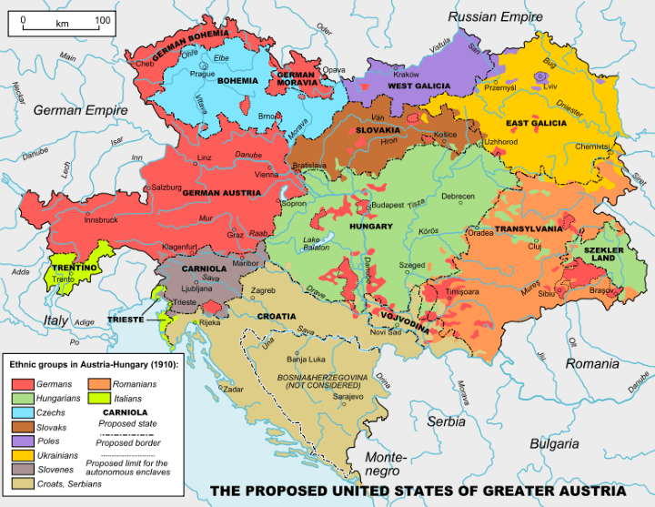 United States of Greater Austria: Based On Ethnic Groups In the Austro-Hungarian Empire