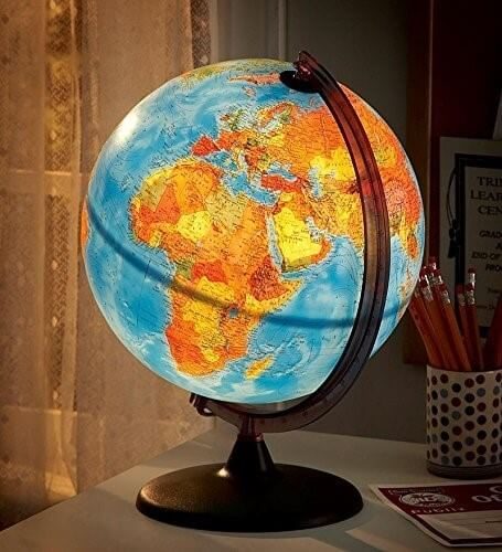 11 best world globes for kids children brilliant maps 9 hearthsong electric illuminated globe gumiabroncs Image collections
