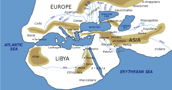 The Known World According To Herodotus In The 5th Century BC