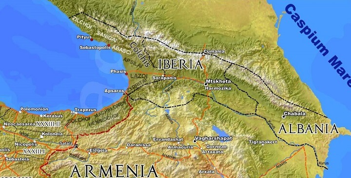 Iberia & Albania in 211CE