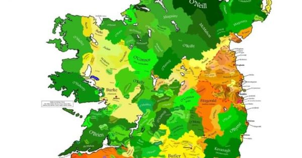 Clan Map of Ireland – Brilliant Maps