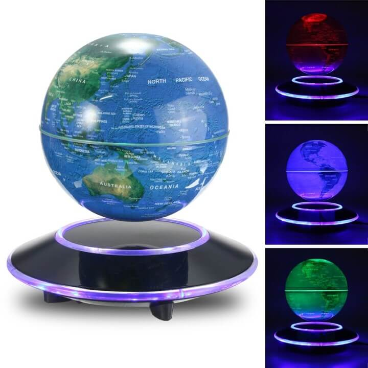 11 best world globes for kids children brilliant maps description it consists of a 6 earth globe using nasa imagery levitating and rotating serenely above a stylish high tech domed mirrored base sciox Image collections