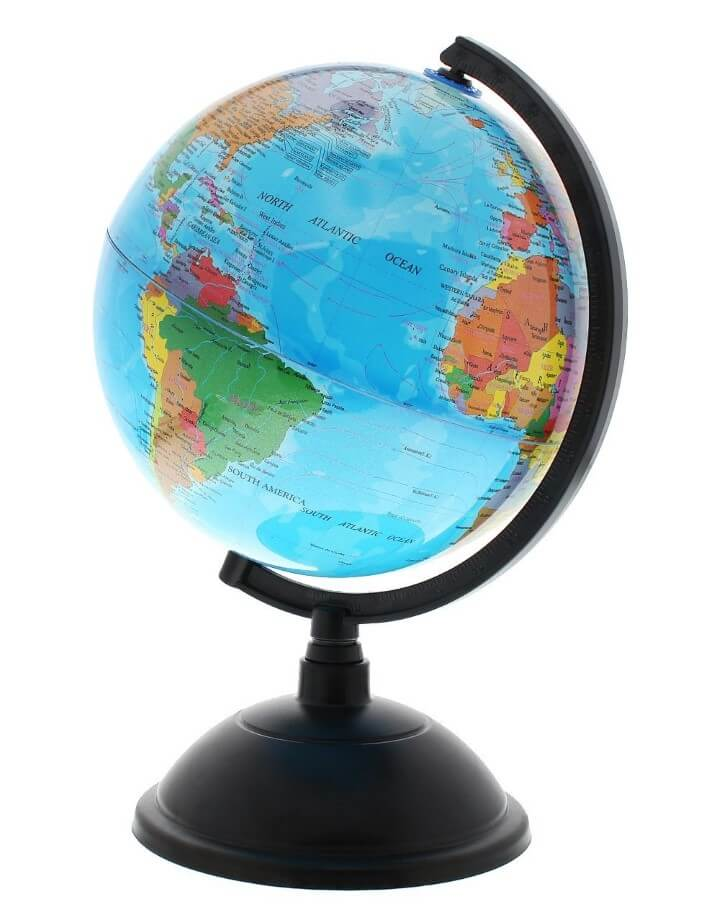 11 best world globes for kids children brilliant maps juvale world globe with stand sciox Image collections