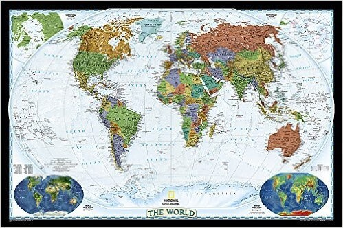 37 eye catching world map posters you should hang on your walls laminated national geographic reference map gumiabroncs Gallery