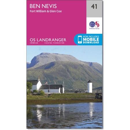 OS Landranger Map of Ben Nevis