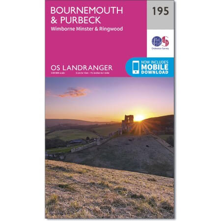 OS Landranger Map of Bournemouth & Purbeck