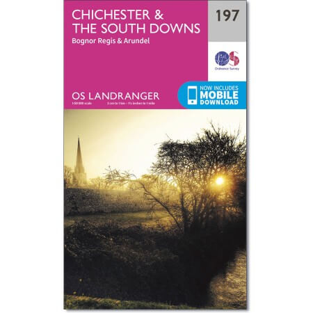 OS Landranger Map of Chichester & the South Downs