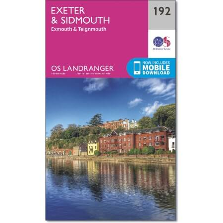 OS Landranger Map of Exeter & Sidmouth